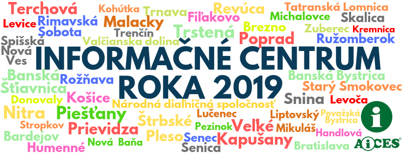 Partneri Ankety o Informačné centrum roka 2019 na Slovensku