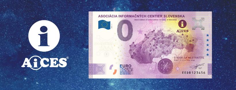 Nová unikátna 0 € bankovka AiCES s motívom mapy prichádza